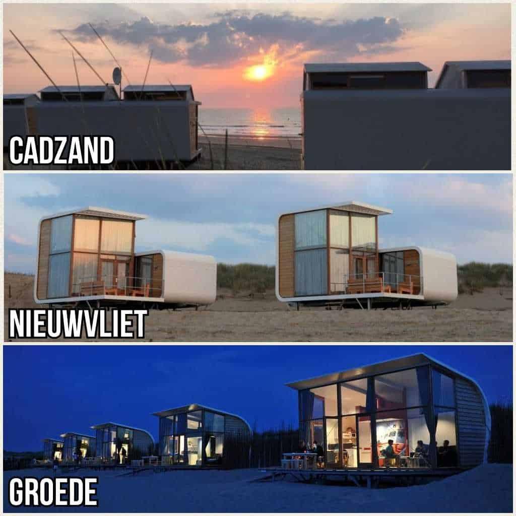 Strandhuisje Cadzand, Nieuwvliet en Groede